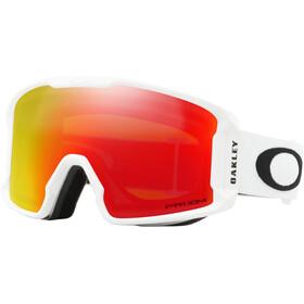 Oakley Line Miner XM Lunettes de ski Femme, matte white/prizm snow torch iridium